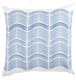 Sonary Stripe Blue Knife Edge Pillow