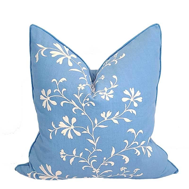 "Sanibel Vinca Vine Pillow 22""x22"""