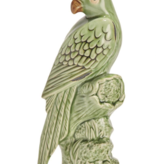 Tropical Green Parrot Sculpture -Small