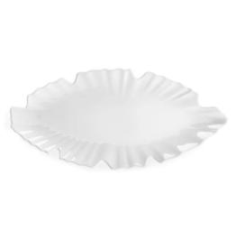 QSquared Zen White Leaf Platter-Small