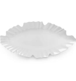 QSquared Zen White Leaf Platter-Large