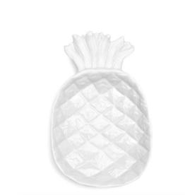 QSquared Pineapple White Melamine Serving Platter