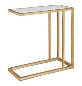 Echelon Sofa Hugger Table (Natural Brass)