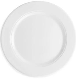 QSquared Diamond White Melamine Round Dinner Plate