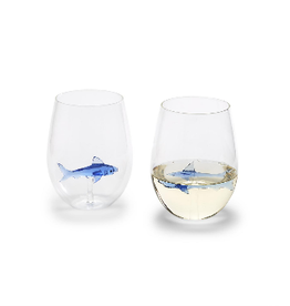 Great White Shark Stemless Wine Glass