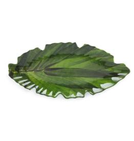 QSquared Zen Leaf Melamine Platter Small