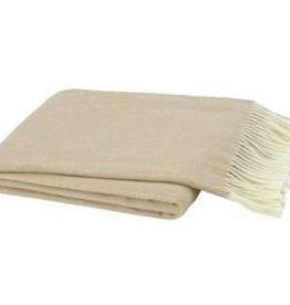 Soft Linen Italian Herringbone Throw