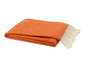 Tangerine Italian Herringbone Throw