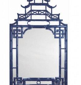Navy Lacquer Pagoda Mirror