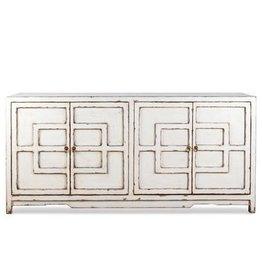 "Key Cabinet - Antique White 72"""