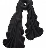 Captiva Cashmere Ruffle Shawl -Black