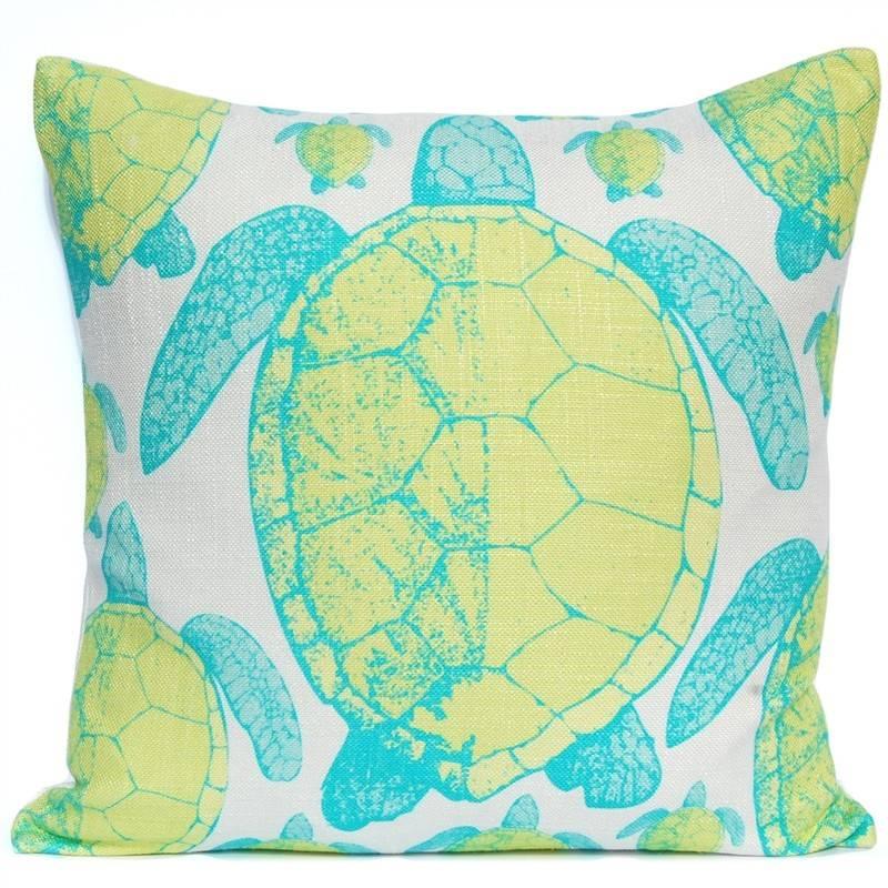 Sea Turtle Print Pillow