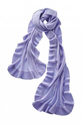 Captiva Cashmere Ruffle Shawl - Lilac