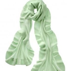 Captiva Cashmere Ruffle Shawl - Honey Dew
