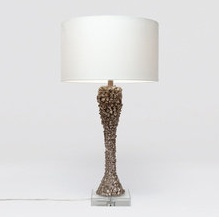 Aaron Silver Table Lamp