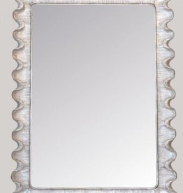 Wave Moderne  Sterling Silver Mirror
