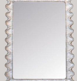 Wave Moderne  Sterling Silver Mirror