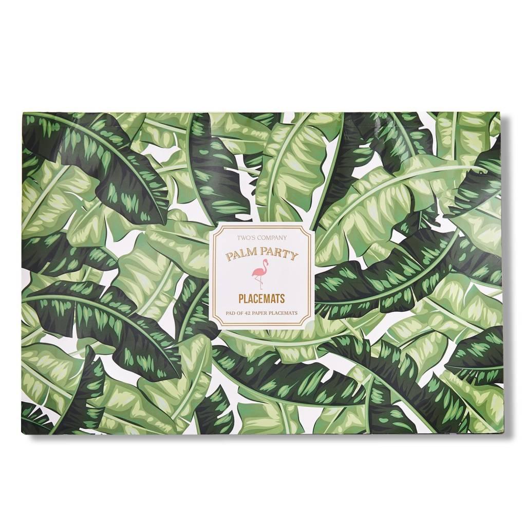 Palm Leaf Paper Placemats