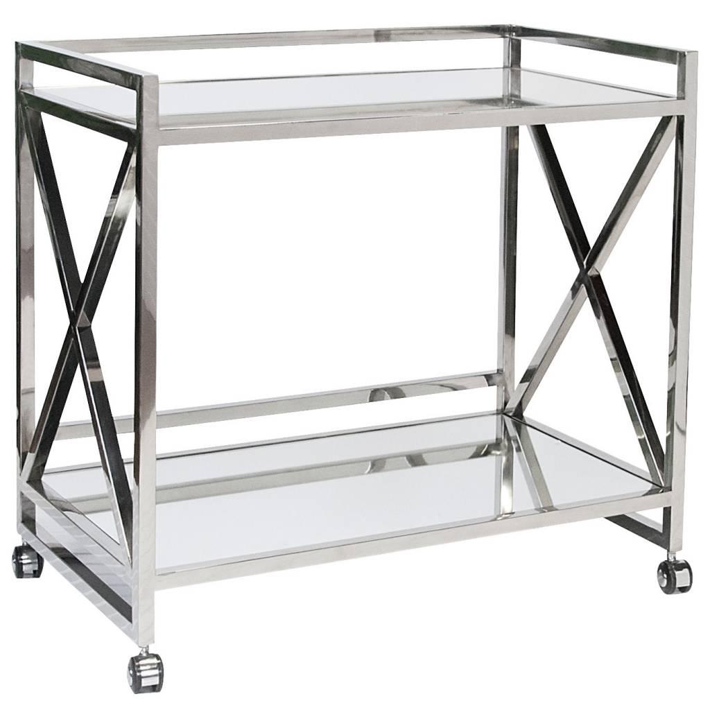 Gerard Silver Bar Cart