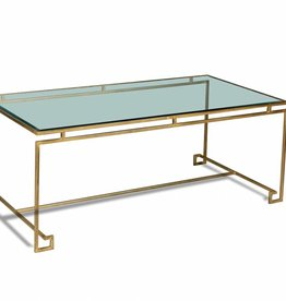 Parallel Lines Coffee Table in Antique Gold