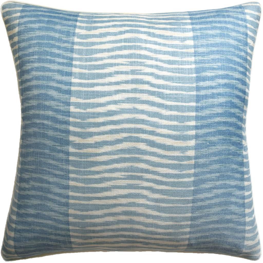 Wavelet Pillow (Aqua)