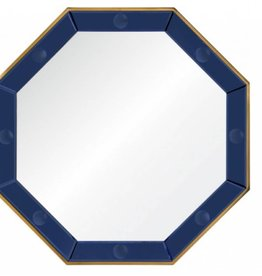 Octagonal Blue Mirror