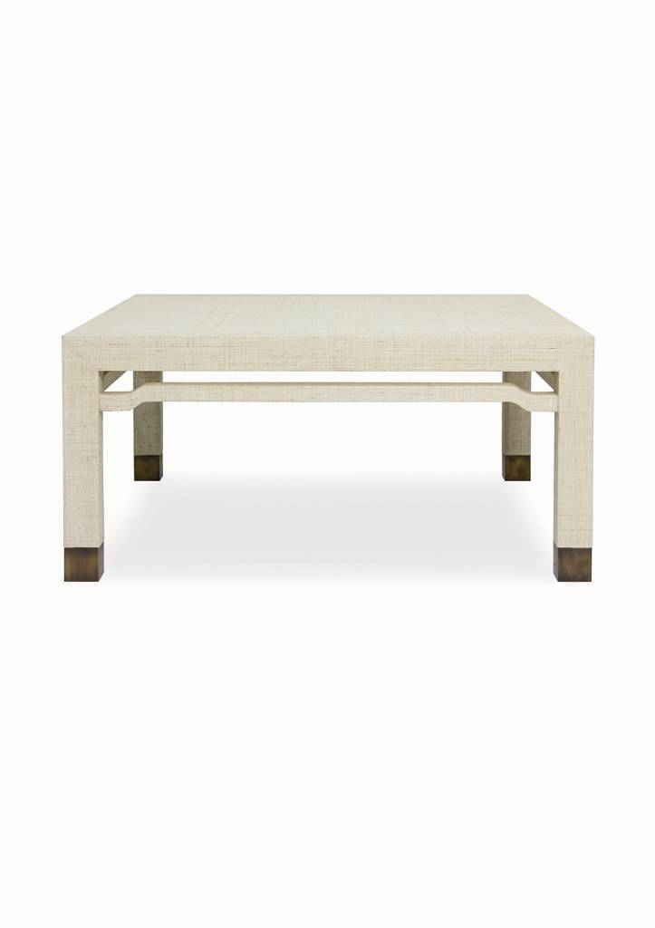 reputable site 44e5c ffd1f Excentricities :: Raffia Parsons Square Coffee Table