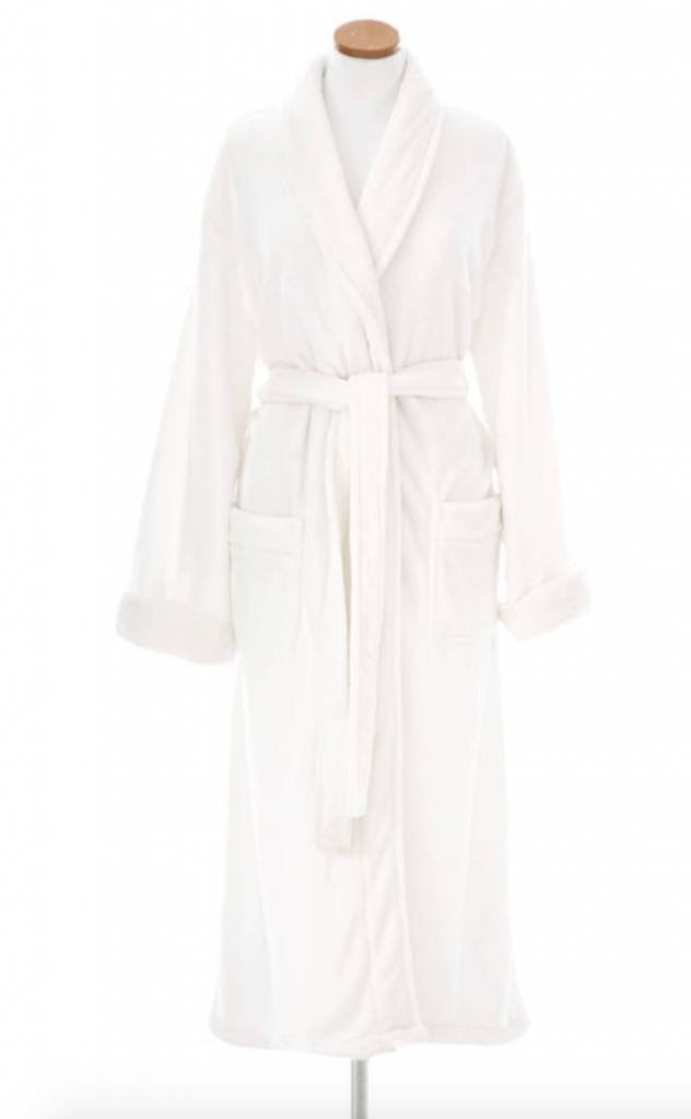 Sheepy Fleece Robe-White