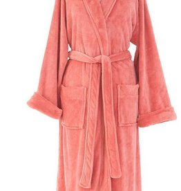 Sheepy Fleece Robe-Coral