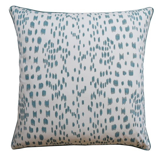 Les Touches Pillow (Aqua)