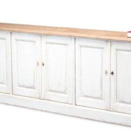 Antique White Wash Sideboard-6 Door