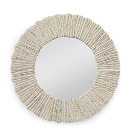 "Slate Mirror Round (Natural) 36.5"" Diam."