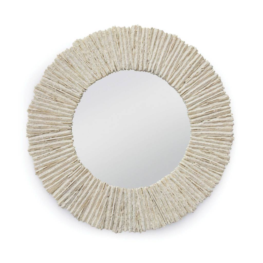 "Slate Mirror Round (Natural) 36.5"" Diam."