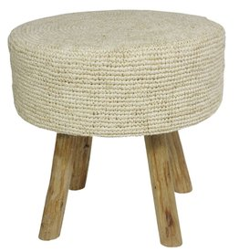 Raffia Stool Natural