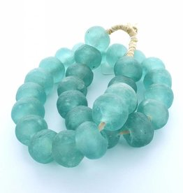 Sea Glass Beads - Aqua