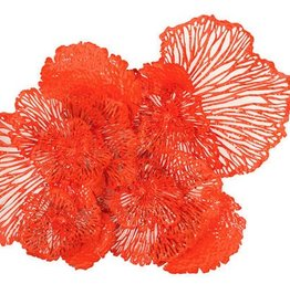 Flower Wall Art Coral, Large