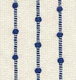 Natural w/ Cobalt Blue Ribbon Bamboo Throw