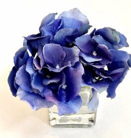 Hydrangea Votive-Faux Water (Dark Blue)