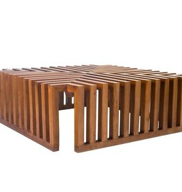 Slat Cocktail Table in Solid Philippine Mahogany