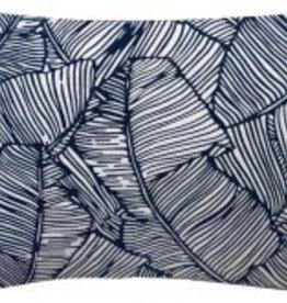 Les Palmiers Navy Lumbar Pillow