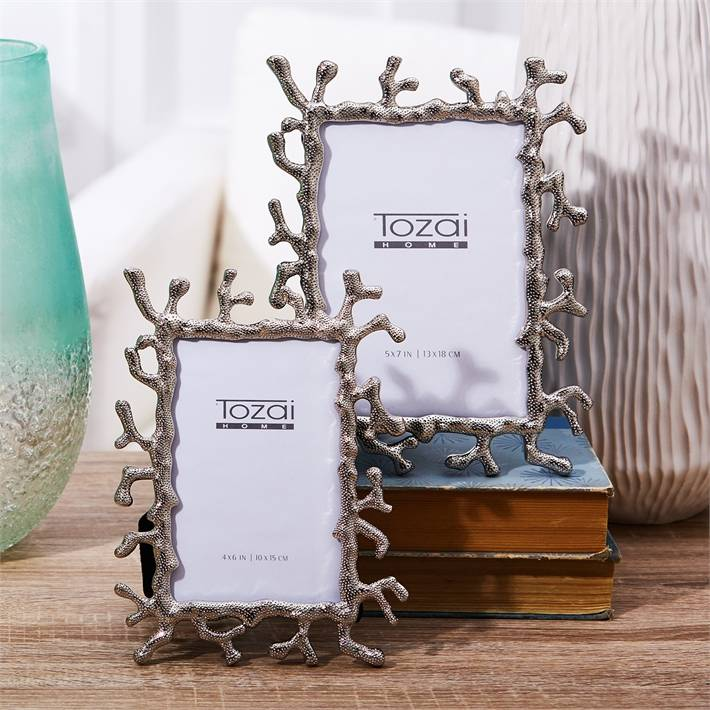 Silver Coral Frame 4 x 6