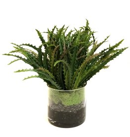 "Saw Tooth Grass x3 in 5"" Cylinder-Faux Water (Green)"