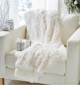 White Faux Throw