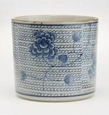 Blue & White Chrysanthemum Vase/Planter