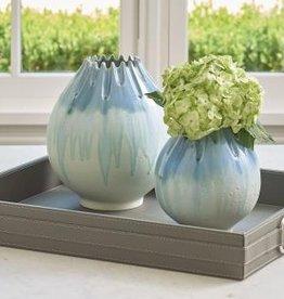 Cut Carved Vase-Cloud- Medium