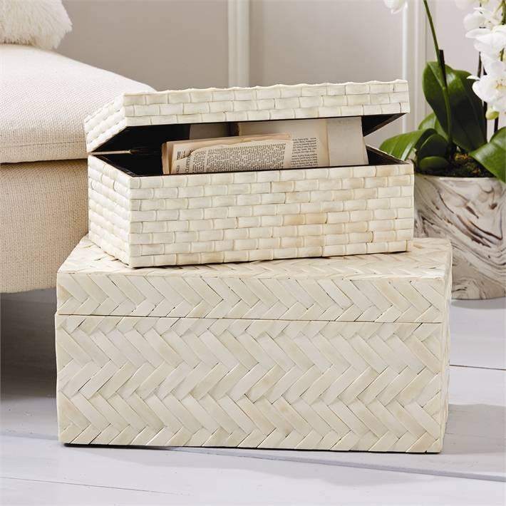 Basketweave Bone Box (Small)