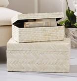 Basketweave Bone Box (Large)