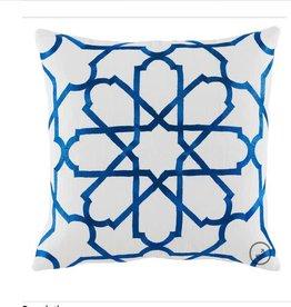 Persian Tile Cobalt Linen Pillow