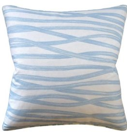 Brushstrokes Pillow-Sky