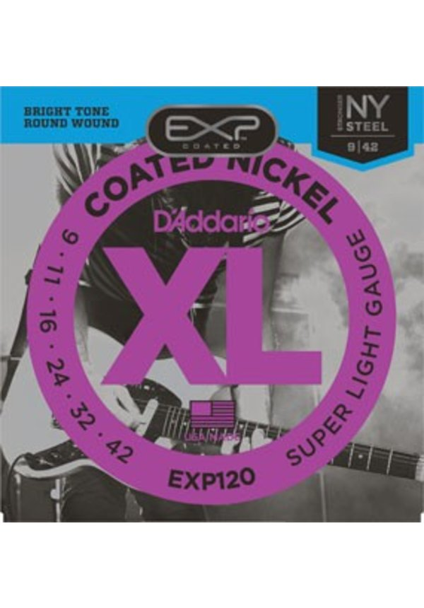 D'Addario EXP120 Super Light Coated Nickle